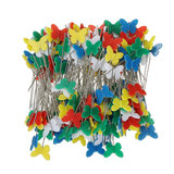 200pcs Butterfly Shaped Head Pins Multicolor Naaien Pins voor DIY Crafts Patchwork DressMaking_