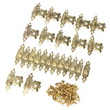 12pcs Antique Decorative Jewelry Gift Wooden Box Hasp Latch Lock With Screw_