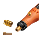 HILDA 2 Pack MD3326C USB Charging Rotary Tool Kit 3.6V Cordless Variable Speed Electric Grinder Drill with Accessories_