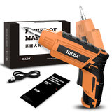 HILDA 4.2V Cordless Electric Screwdriver Lithium Battery Screwdriver with Twistable Handle_