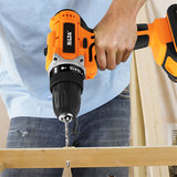 HILDA 12-21V Electric Drill with Rechargeable Lithium Battery Screwdriver Cordless Screwdriver Two-speed Power Drills_