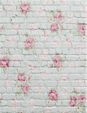 0.9x1.6m Rose Flower Stone Brick Wall Theme Photography Achtergrond Vinyl Fabric Studio Backdrop_