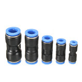 10 Pcs Air Pneumatic OD 1/4 inch Straight Union Push om de montage aan te sluiten_