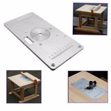 235mm x 120mm x 8mm Aluminum Router Table Insert Plate For Woodworking_