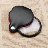 Portable Rotatable Mini Folding Glass Lens Cortical Pocket Leather Handle Magnifying Glass Magnifier_