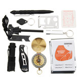 10 In 1 SOS Emergency Survival Equipment Kit Gear Tools Outdoor Tactical Hiking Camping_