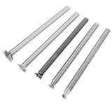 HILDA 5Pcs 3-8mm Milling Cutters White Steel Star Shaped Wood Carving Knives  3mm Shank _