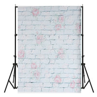 0.9x1.6m Rose Flower Stone Brick Wall Theme Photography Achtergrond Vinyl Fabric Studio Backdrop
