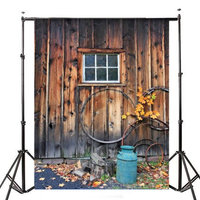 7x5ft Village Wood Lodge Theme Photography Vinyl Achtergrond Studio Achtergrond 2.1mx 1.5m