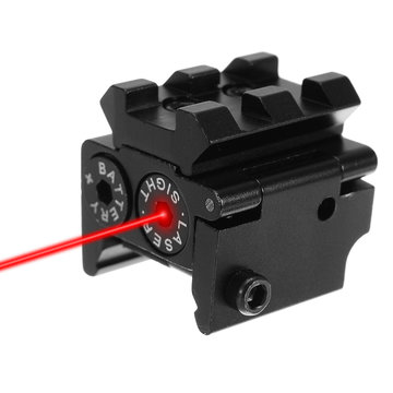 Mini Red Laser Beam Dot Sight Scope Hang Type Compact Tactical Picatinny 20mm Railmontage
