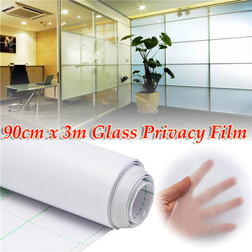 90cm 300cm Frosted Window Tint Glass Privacy PVC Film Voor DIY Home Office Store