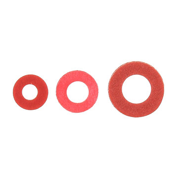 100st Staal Pad Isolatie Tussenring Rood Stalen Papier Spacer Isolerende Spacers Set Meson Pakking