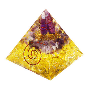 Himalaya's Stone Orgone Pyramid Energy Generator Tower Home Reiki Healing Crystal Room Decorations