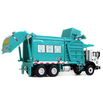1:24 Vuilniswagen Toy Model Metal Recycling Clean Garbage Car Gift Decorations