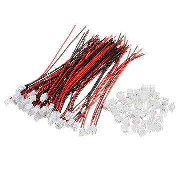 Excellway® 100Pcs Mini Micro JST 2.0 PH 2Pin Connector Met 120mm Kabels
