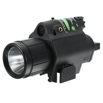 Green Laser Sight Dot Scope 300 Lumen LED Zaklamp Combo Tactical Picatinny 20mm Railmontage