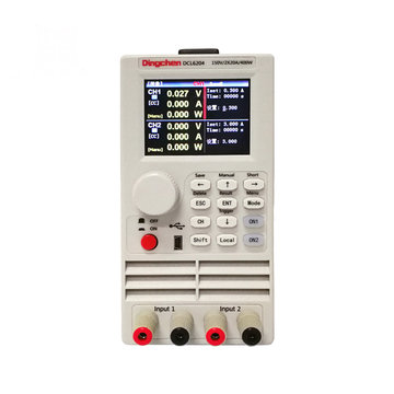 RS232 DCL6104 Communicatie DC Electronic Load Single Pass / Dual Channel 400W LED Drive Batterijcapaciteit Load Tester