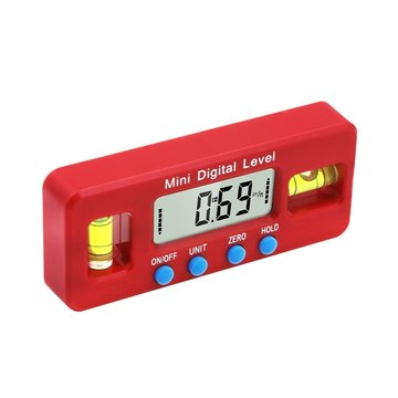 Electronic Spirit Level Four Unit Switches Digitaal display Sterk magnetisch laserniveau
