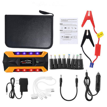 Draagbare LED 89800 mAh Auto Jump Starter Pack Booster Oplader Batterij Power Bank Emergency Start Power Met Veiligheid Hammer
