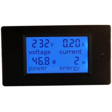 PZEM-021 4 in 1 LCD-spanningsstroom Active Power Energy Meter Blue Backlight Panel Voltmeter Ammeter KWH Meter 0-20A 80-260V 50 / 60Hz