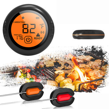 Bluetooth draadloze slimme vleesthermometer 2 probes voor IOS Android Cooking BBQ