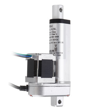 DC 9-36V stappenmotor Lineaire actuator 250N 12 mm / s Verstelbare actuator Lineaire actuator Buismotor