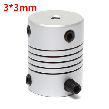 3mm x 3mm Aluminium Flexibele As Koppeling OD19mm x L25mm CNC Stepper Motor Coupler Connector