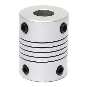 8mm x 8mm aluminium flexibele as koppeling OD19mm x L25mm CNC Stepper Motor Coupler Connector