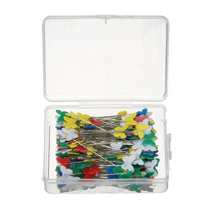 200pcs Butterfly Shaped Head Pins Multicolor Naaien Pins voor DIY Crafts Patchwork DressMaking