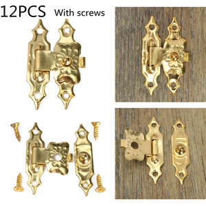 12pcs Antique Decorative Jewelry Gift Wooden Box Hasp Latch Lock With Screw